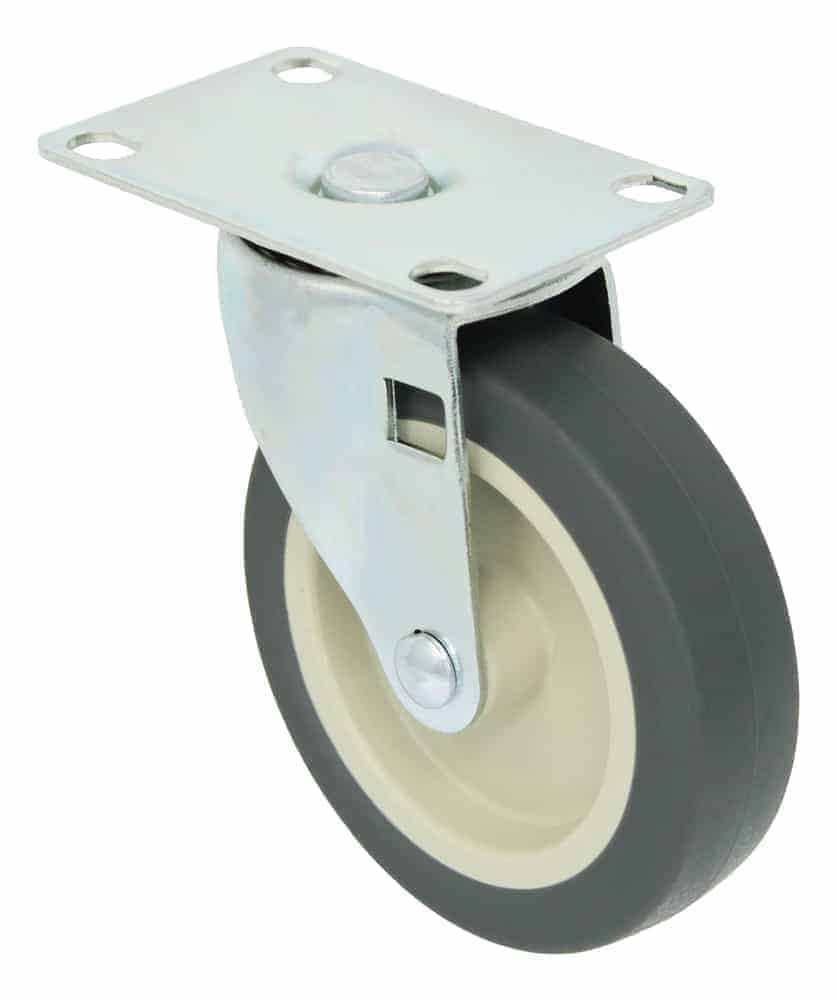 4″ Swivel Polyurethane Top Plate 2-3/8″ x 3-5/8″