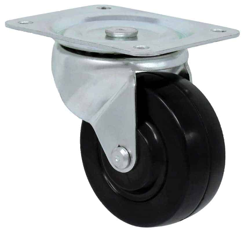 2 1/2″ Swivel Hard Rubber Top Plate 2-3/4″ x 3-7/8″