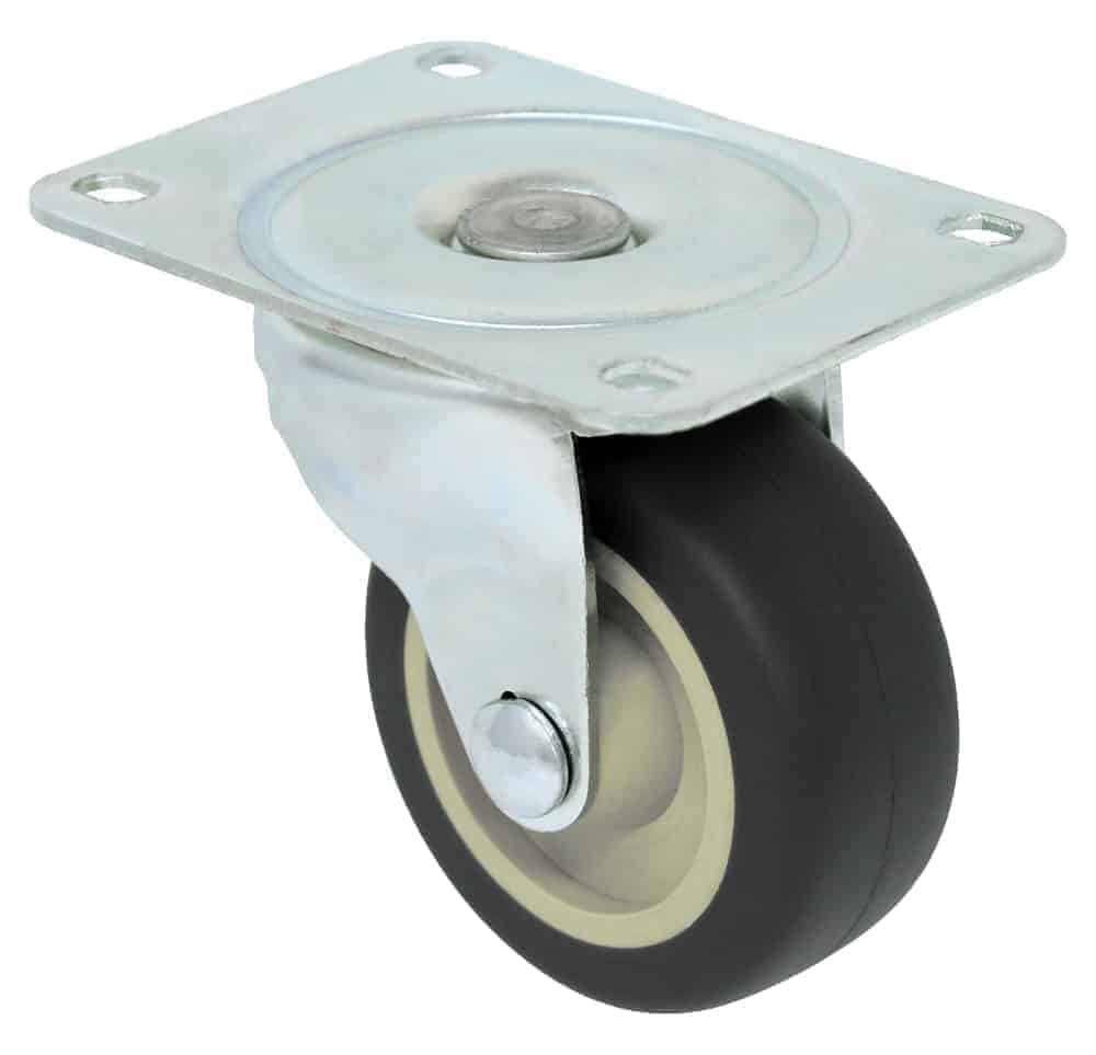 3″ Swivel Polyurethane With Brake Top Plate 3-1/8″ x 4-1/8″