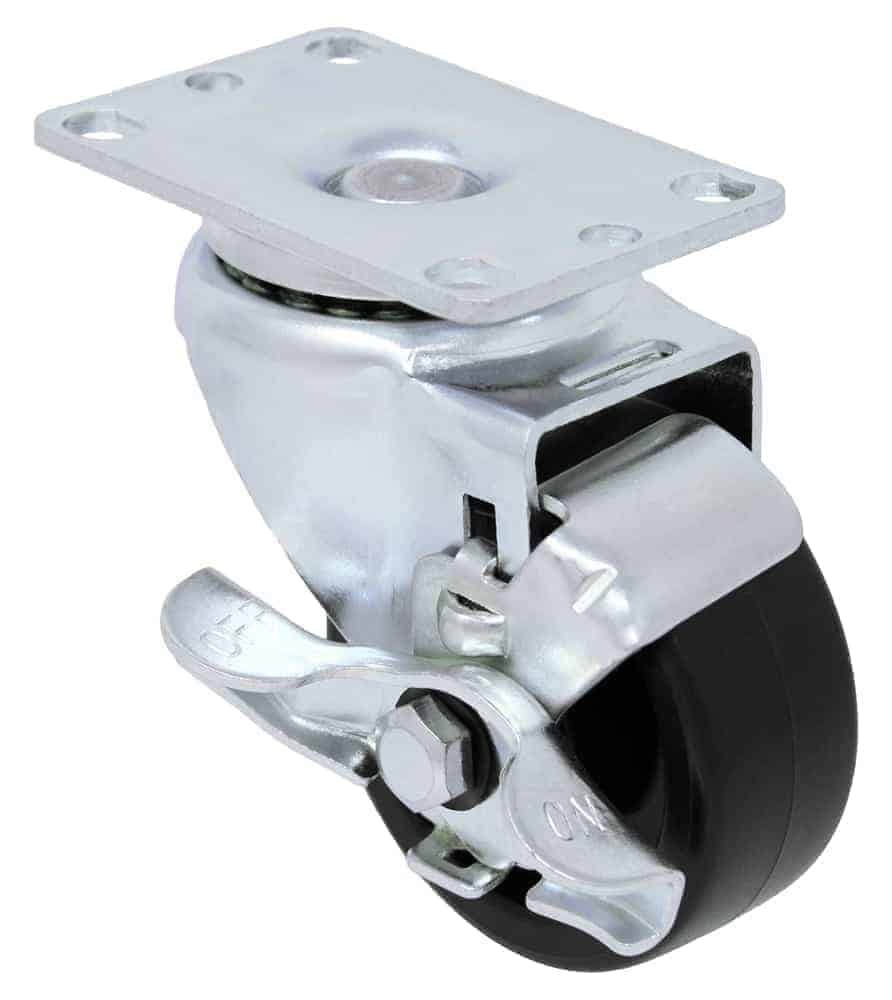 Swivel Polyolefin Caster with Brake