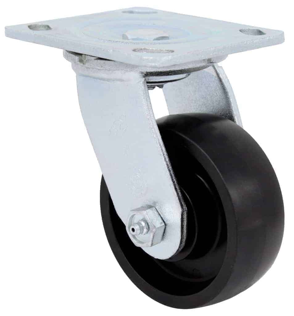 4″ Swivel Polyolefin With Brake Top Plate 4″ x 4-1/2″