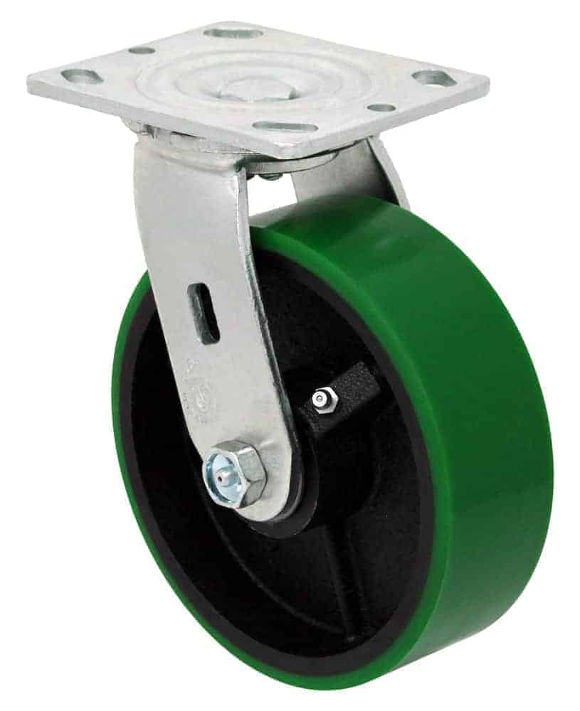 Swivel Poly Steel Caster 4 x 4-1/2 Top Plate
