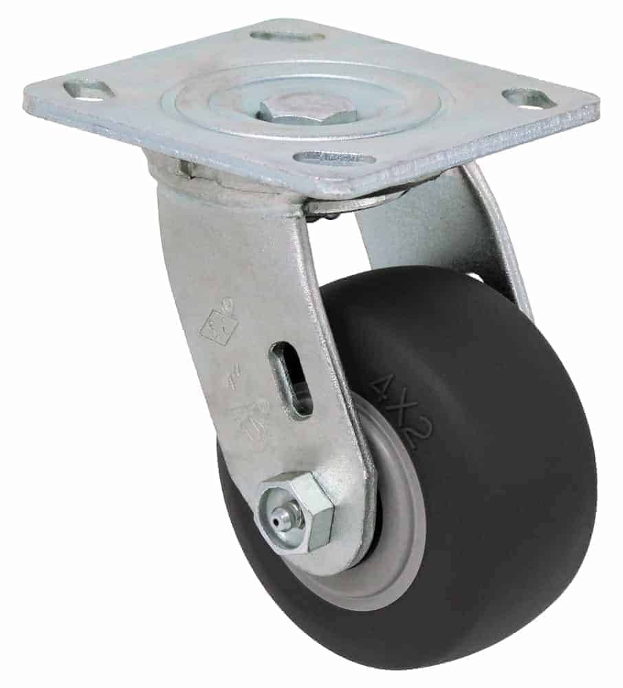 4″ Swivel Non Marking With Brake Top Plate 4″ x 4-1/2″