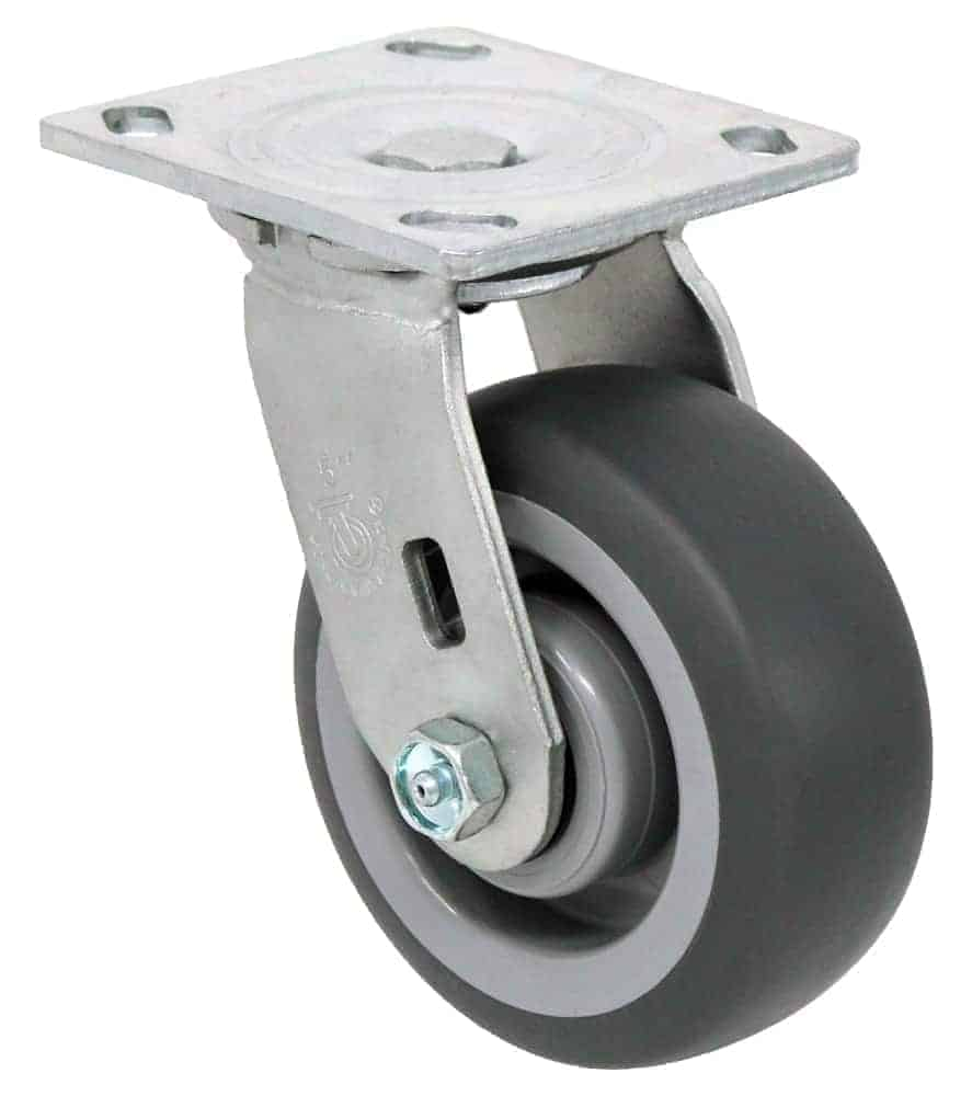 6″ Swivel Non Marking With Brake Top Plate 4″ x 4-1/2″
