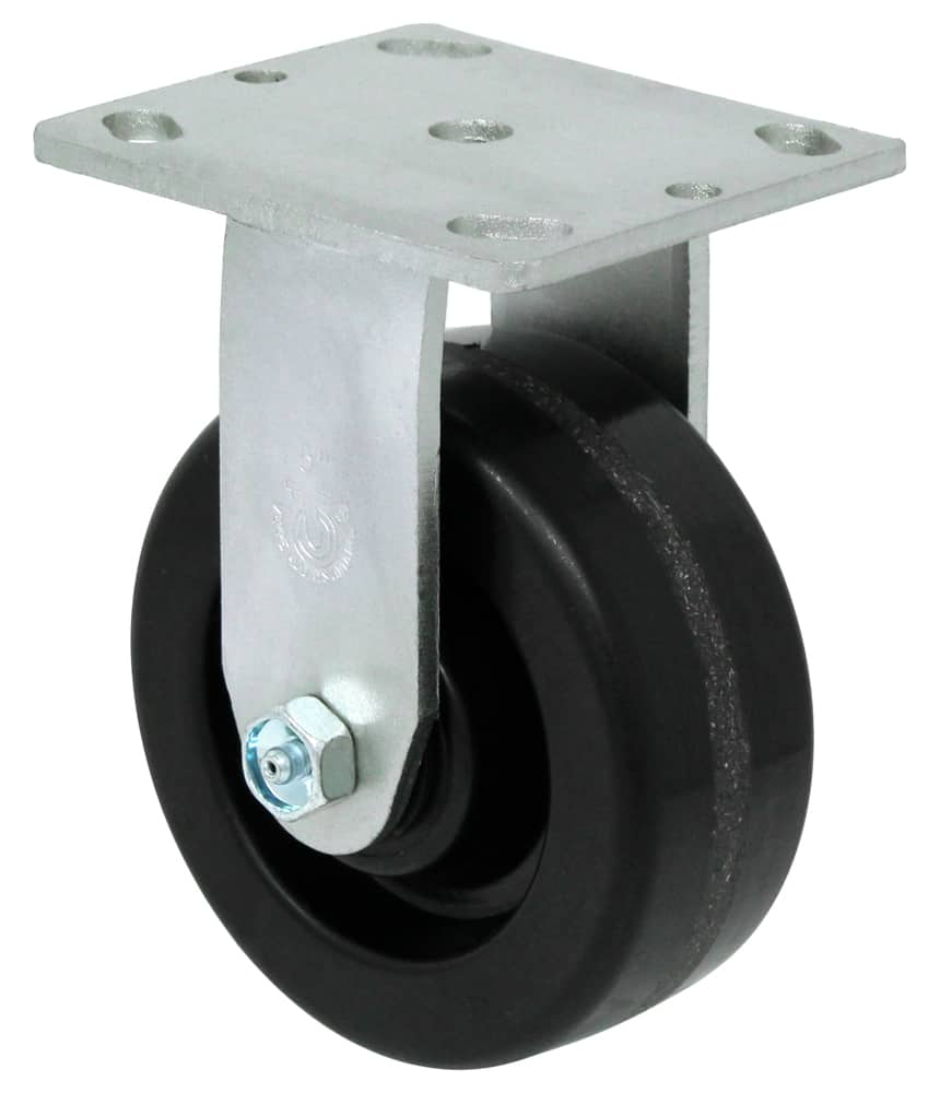 "Rigid Phenolic Caster with 4"" x 4-1/2"" Top Plate"