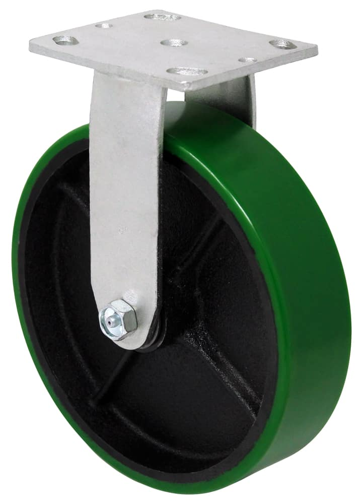 "Rigid Poly Steel Caster with 4"" x 4-1/2"" Top Plate"