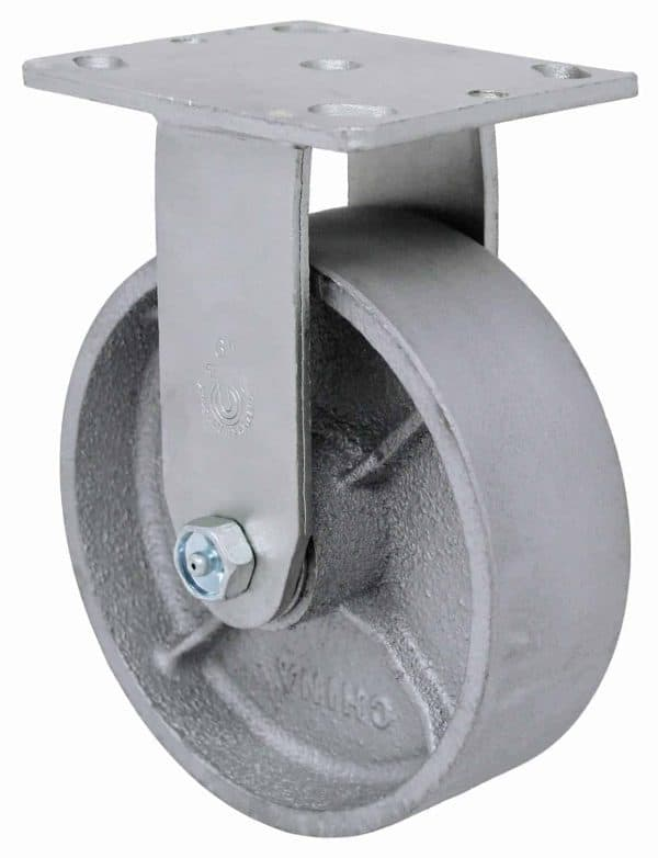 Rigid Steel Caster 4 x 4-1/2 Top Plate
