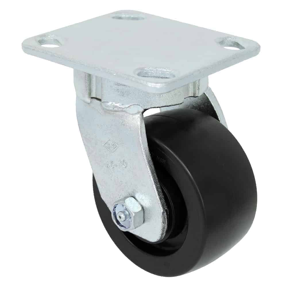 8″ Swivel Polyolefin Top Plate 4 x 4-1/2