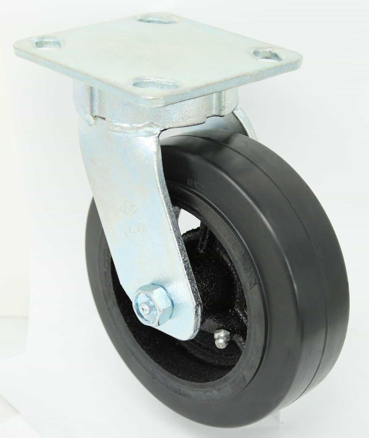 Swivel Kingpinless Polyurethane Steel Caster 4 x 4-1/2 Top Plate