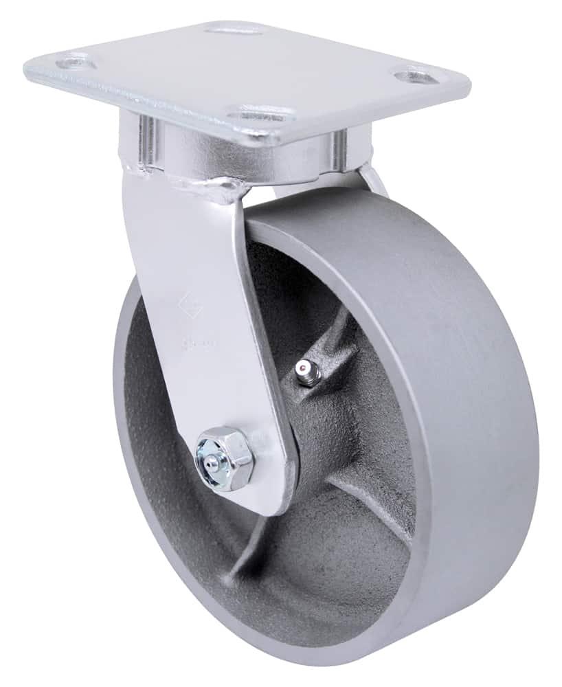 6″ Swivel Steel Top Plate 4″ x 4-1/2″