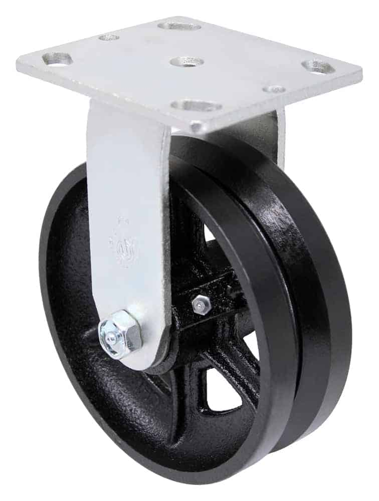 6″ Rigid V Groove Top Plate 4″ x 4-1/2″