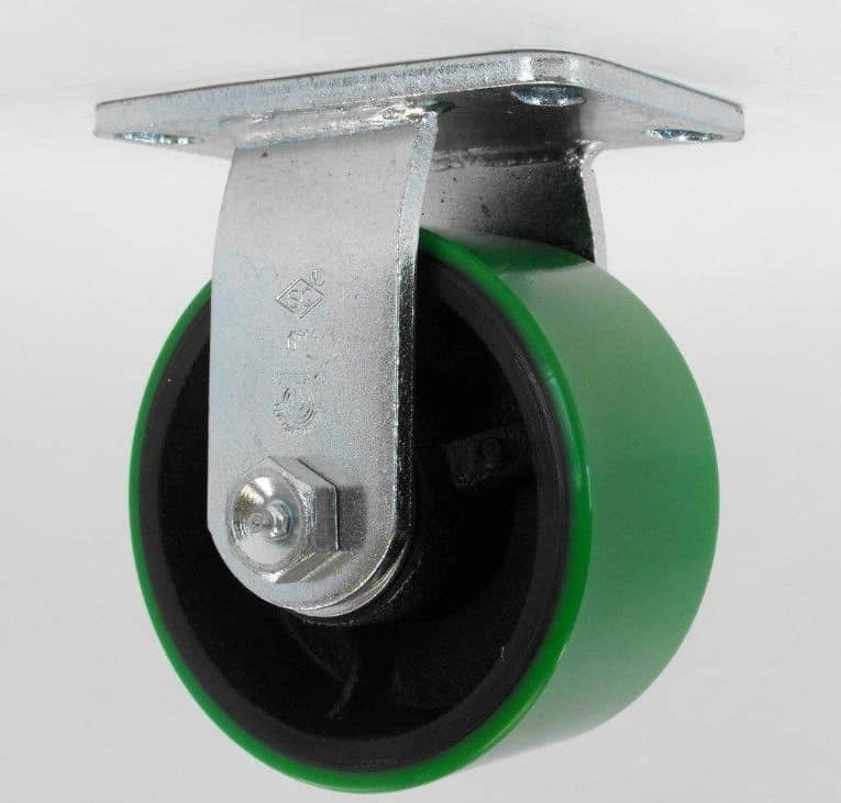 "Rigid Poly Steel Caster with 4-1/2"" x 6-1/4"" Top Plate"