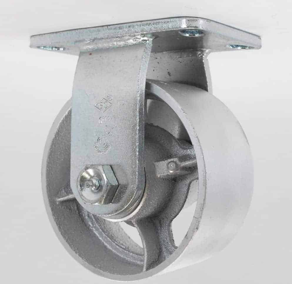 Rigid Steel Caster 4-1/2 x 6-1/4 Top Plate