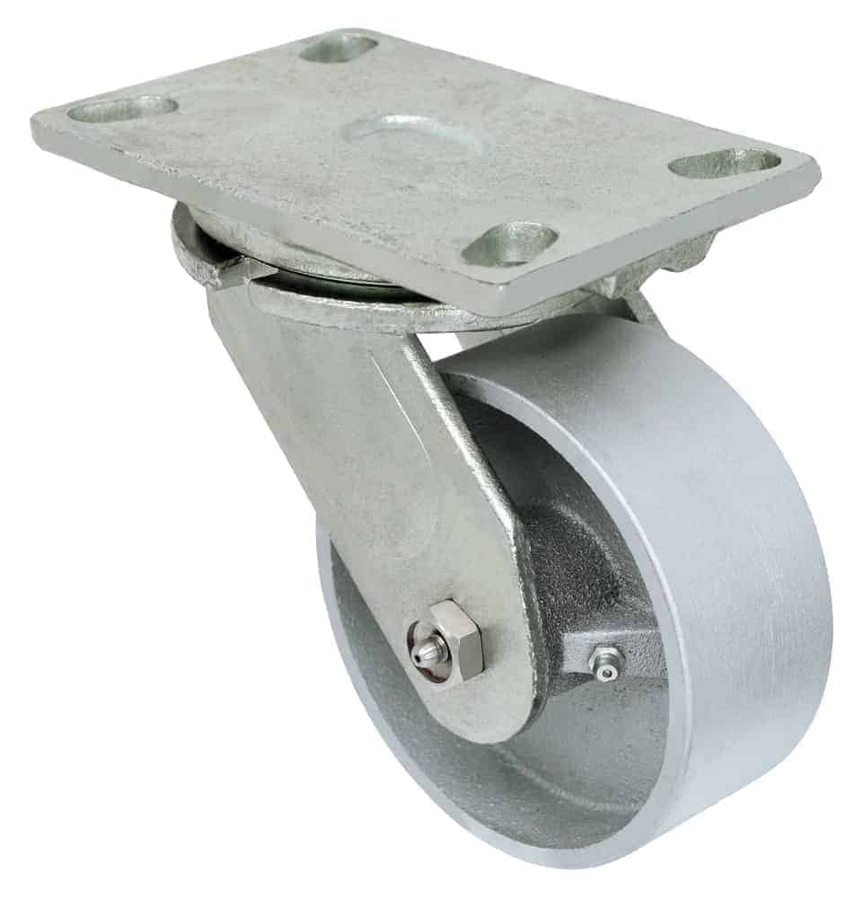 Swivel Steel Caster 4-1/2 x 6-1/4 Top Plate