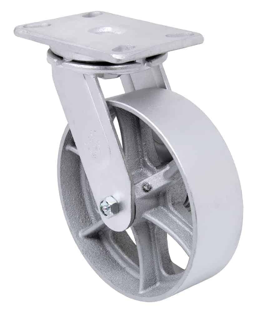 8″ Swivel Steel Top Plate 4-1/2″ x 6-1/4″ 1400 Lbs Capacity