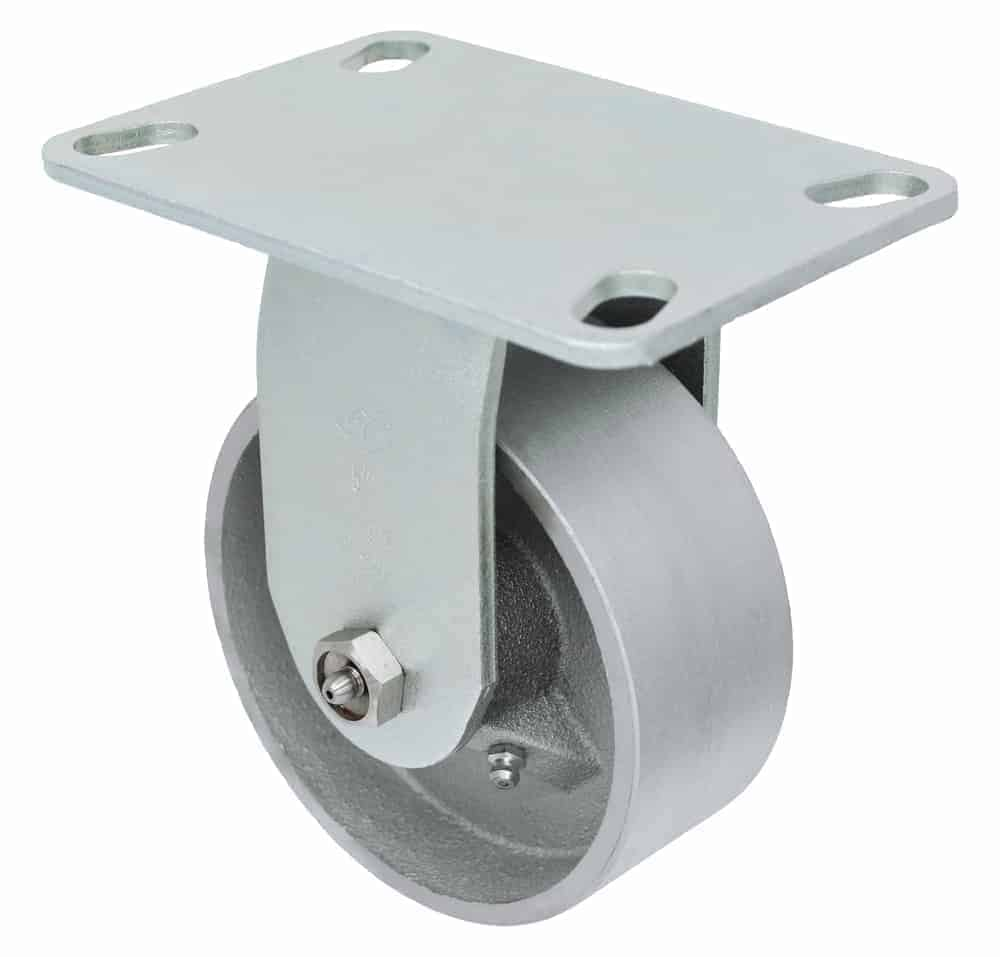 "Rigid Steel Caster 4-1/2"" x 6-1/4"" Top Plate"