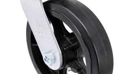 10″ Swivel Rubber Steel Top Plate 4-1/2″ x 6-1/4″