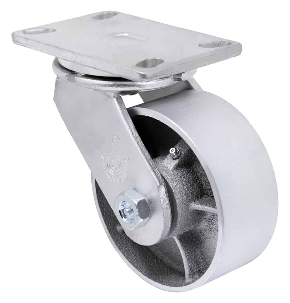 8″ Swivel Steel Top Plate 4-1/2″ x 6-1/4″