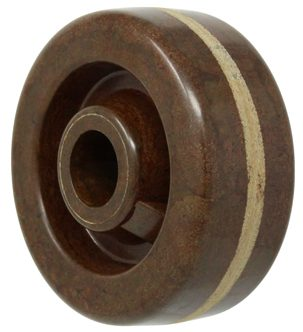 5″ High-Temp Phenolic Wheel With 1/2″ Plain Bore 1-3/8′ Hub 300 Lbs Capacity