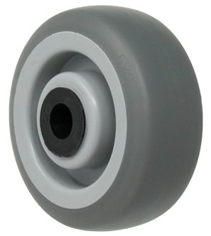 3-1/2″ Thermoplastic Rubber Wheel With 3/8″ Precision Ball Bearing 1-9/16 Hub 230 Lbs Capacity
