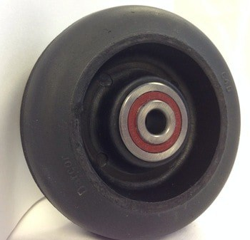 3″ Neoprene Wheel With 3/8″ Precision Sealed Ball Bearing 225 Lbs Capacity With 1-3/4″ Hub