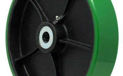 10″ Polyon Wheel 1″ Roller Bearing 2-3/4″ Hub Length 2200 Lbs. Capacity