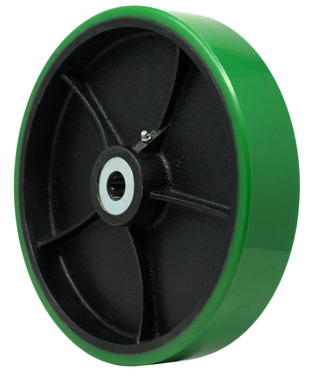 8″ Polyon Wheel 3/4″ Roller Bearing 2-3/16″ Hub Length 1400 Lbs. Capacity