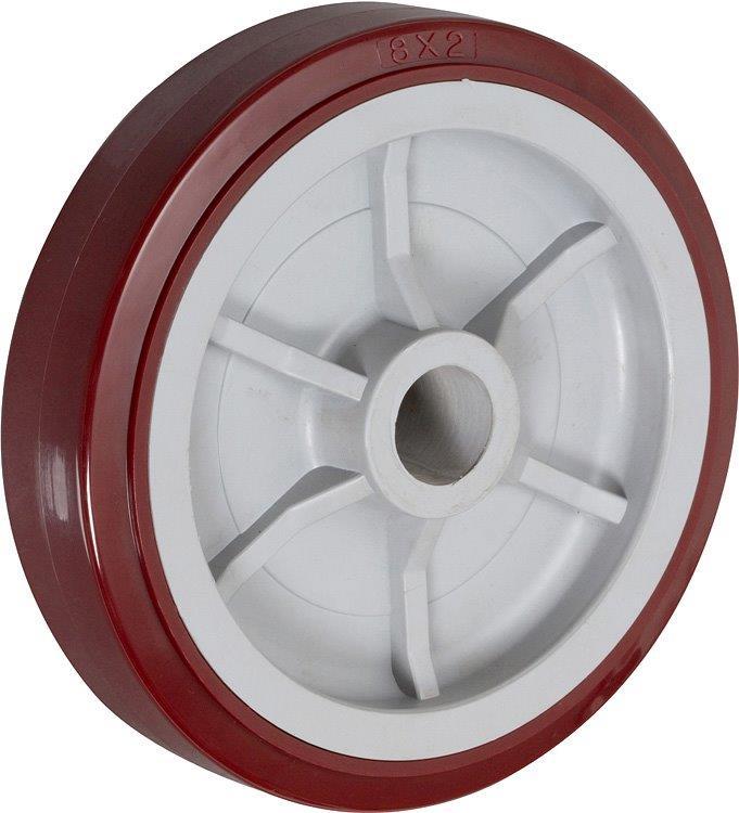 8″ Poly Pro Wheel 3/4″ Roller Bearing 2-3/16″ Hub Length 800 Lbs. Capacity