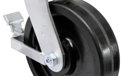 10″ Swivel Phenolic Top Plate 4-1/2″ x 6-1/4″ With Brake