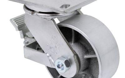 6″ Swivel Steel Top Plate 4-1/2″ x 6-1/4″ With Brake